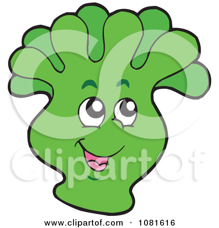 Clipart of a Green Sea Anemone.