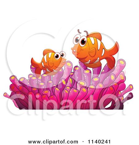Clipart Happy Green Sea Anemone.
