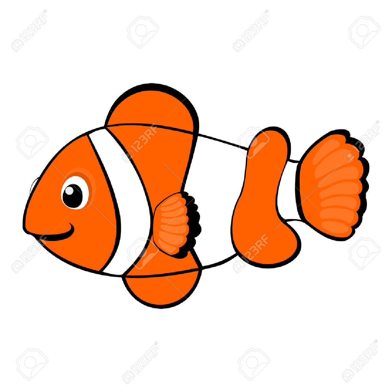 Clown Fish Cartoon Royalty Free Cliparts, Vectors, And Stock.