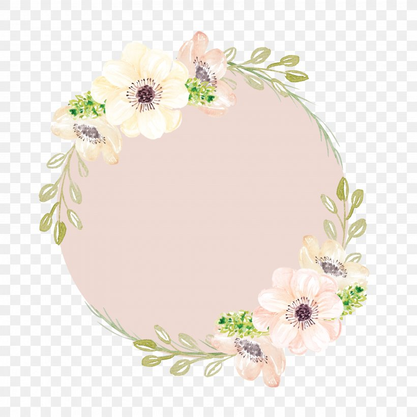 Watercolor Painting Pink Flowers Clip Art, PNG, 3600x3600px.