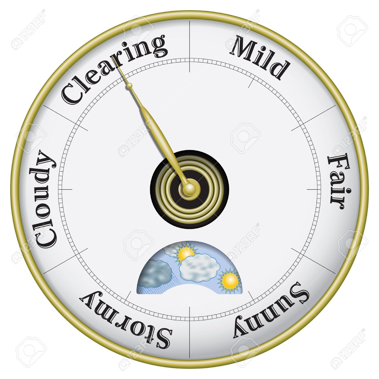 Weather Barometer Clipart.