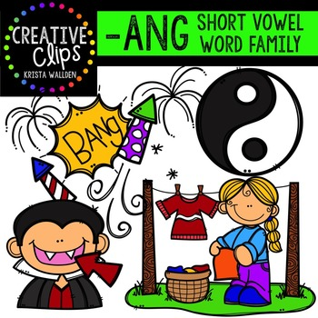 ANG Short A Word Family {Creative Clips Digital Clipart}.