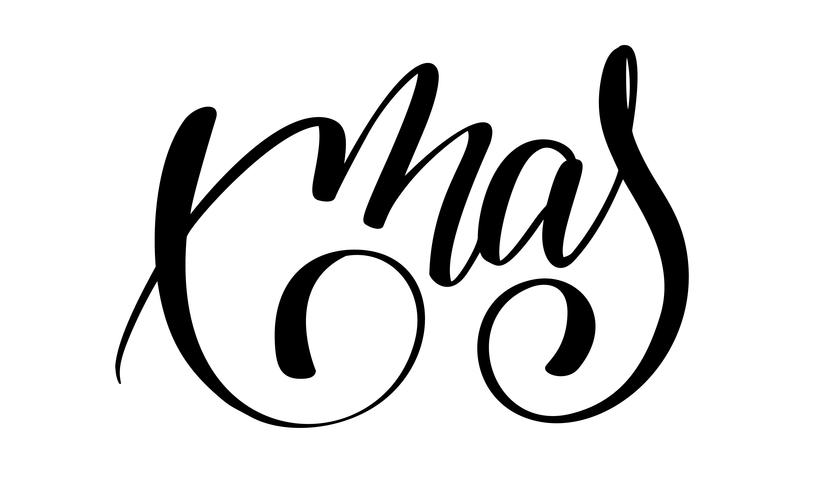 xmas calligraphy lettering word. Christmas and New Year.