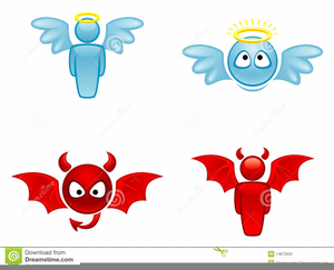 Angel And Devil Clipart Free.