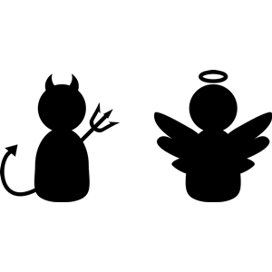 Angel & Demon clipart, cliparts of Angel & Demon free.