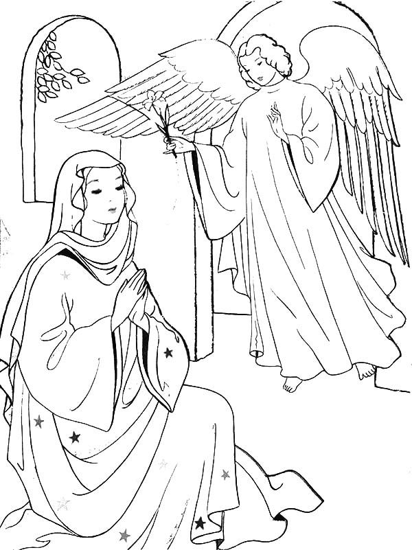 Angel Appears to Mary and Joseph and Tell Them about Birth.