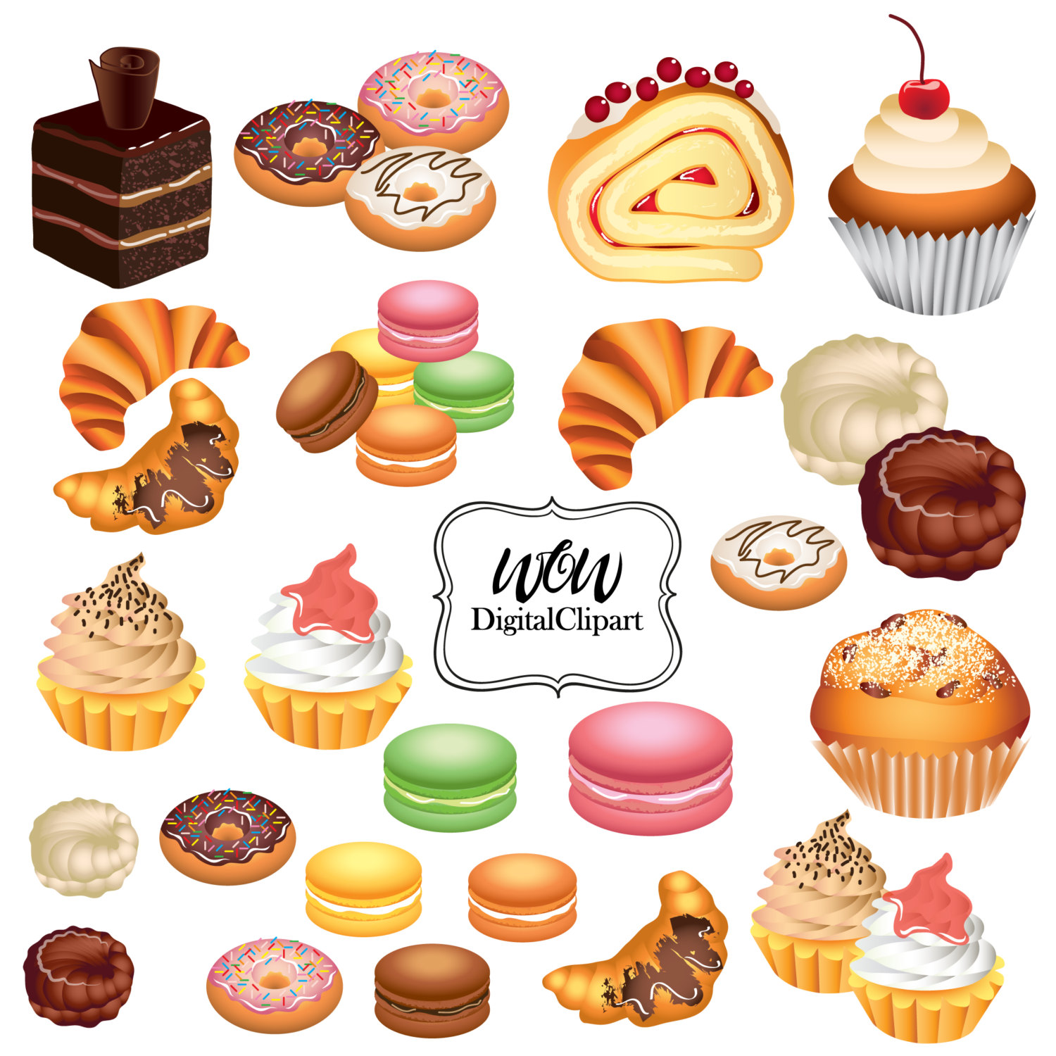 Running Pastries Clipart Clipground