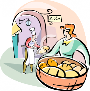 Royalty Free Clip Art Image: Italian Bread Bakery.