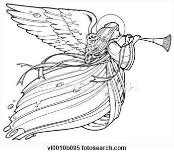 20+ Angel Blowing Trumpet Clipart.