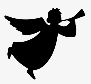 Vector Illustration Of Spiritual Angel Blowing Trumpet.