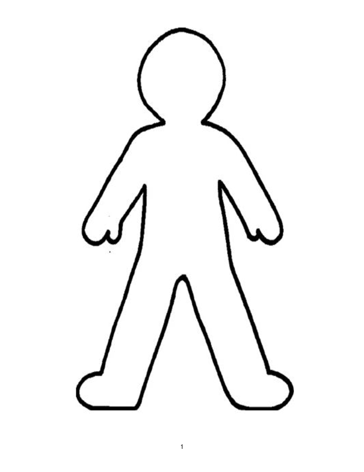 Free Person Outline Coloring Page, Download Free Clip Art.