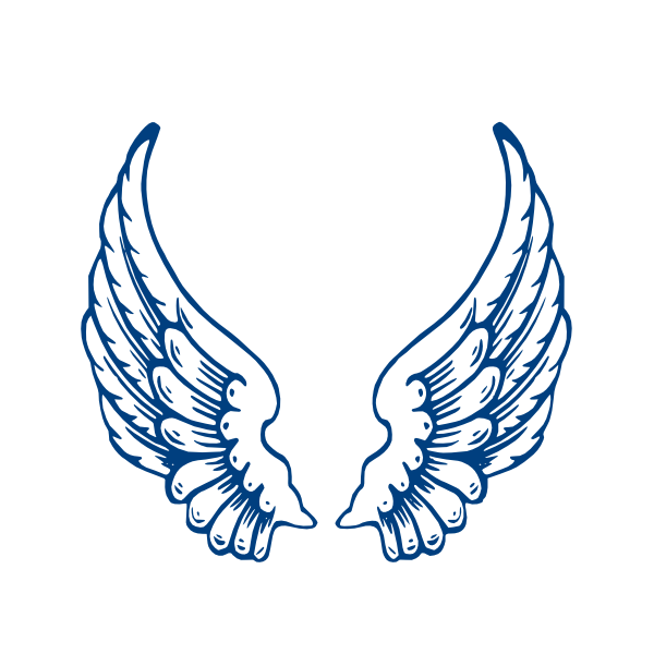 angel wings template.