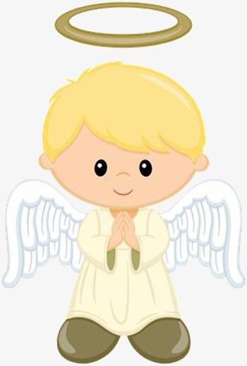 The Little Boy Angel, Boy Clipart, Angel Clipart, Decorative.