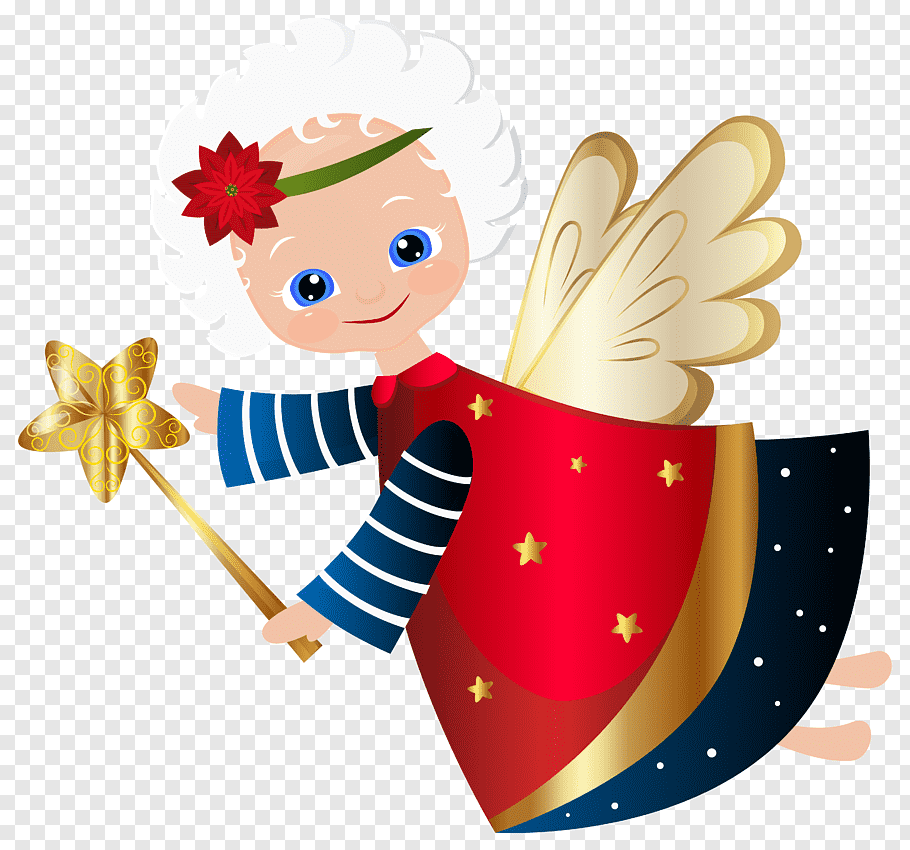 Angel illustration, The crazy Christmas angel mystery.