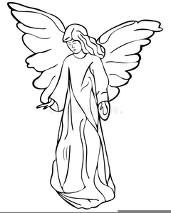 Free Angel Clipart Black And White.