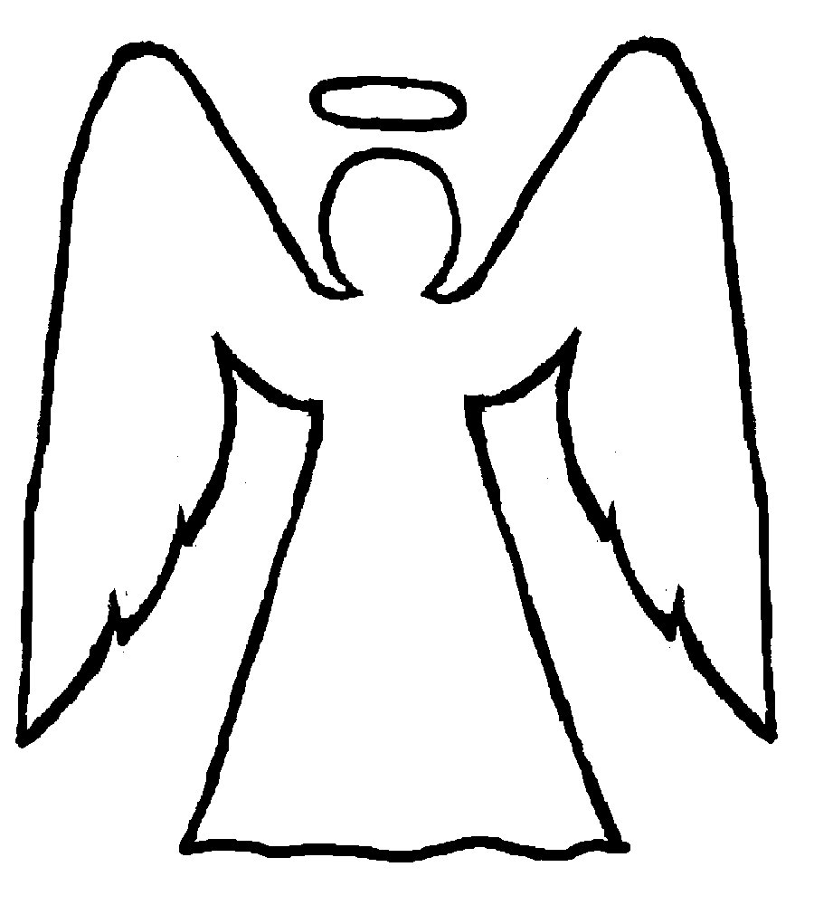 Free Angel Outline Drawing, Download Free Clip Art, Free Clip Art on.