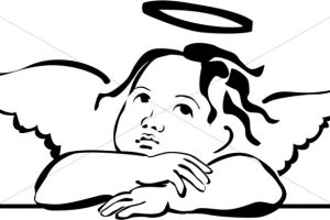 Angel clipart outline 5 » Clipart Station.