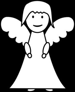 Angel Outline Clip Art at Clker.com.