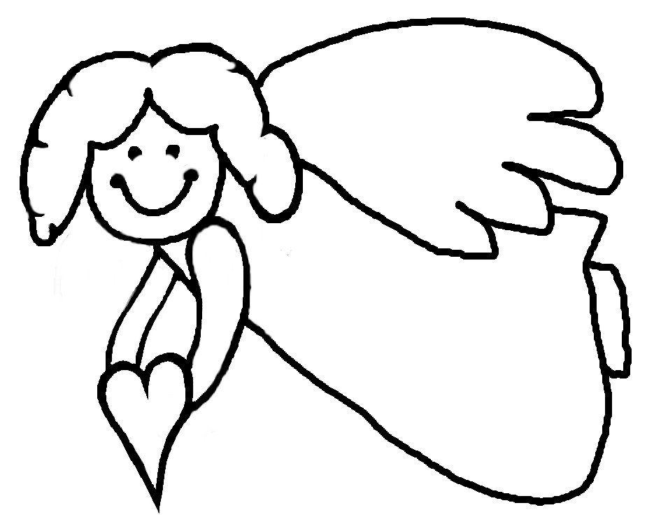 Angel Outline Drawings.