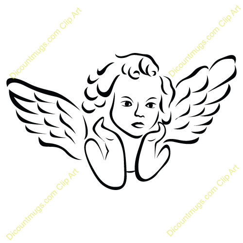 Flying Angel Clipart.