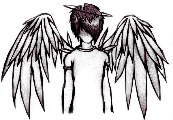 Emo Angel Boy by Skissored in 2019.
