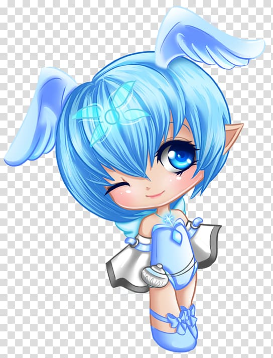 Angel anime character illustration, Angel Cuteness , Blue.