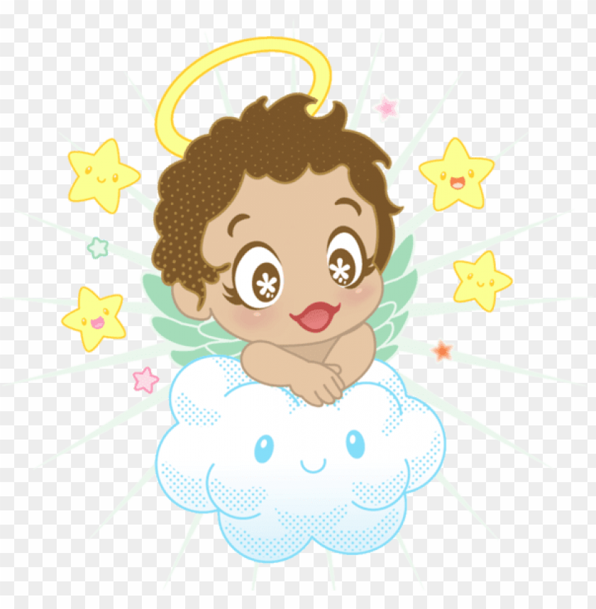 angel clipart, angel clouds, cute clipart, baby scrapbook.