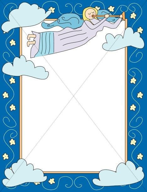 Cartoon Angel Frame.