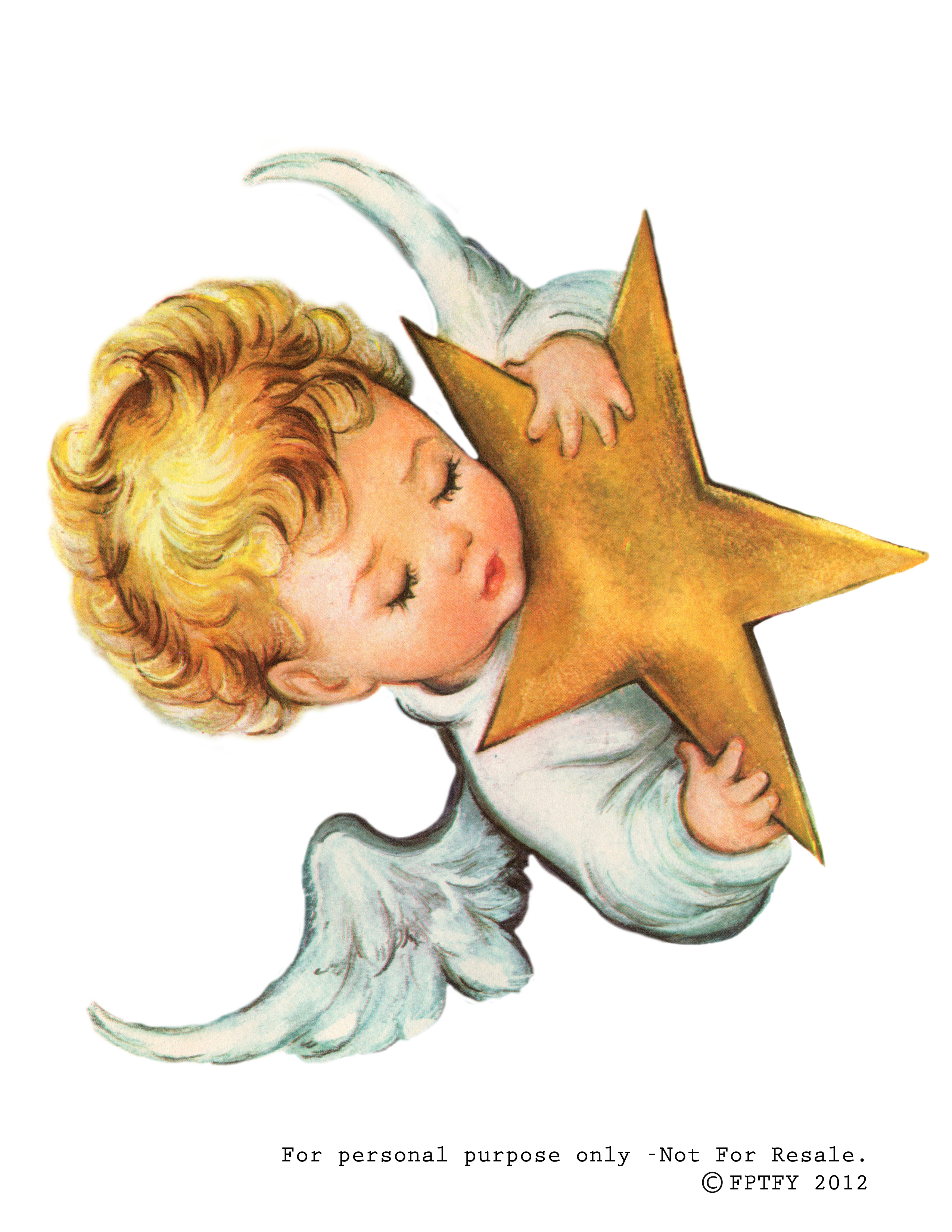 Cute Baby Boy Angel Clipart.