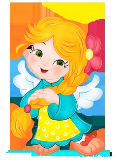 Cute Angels Clipart.