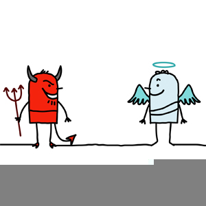 Angel Vs Devil Clipart.
