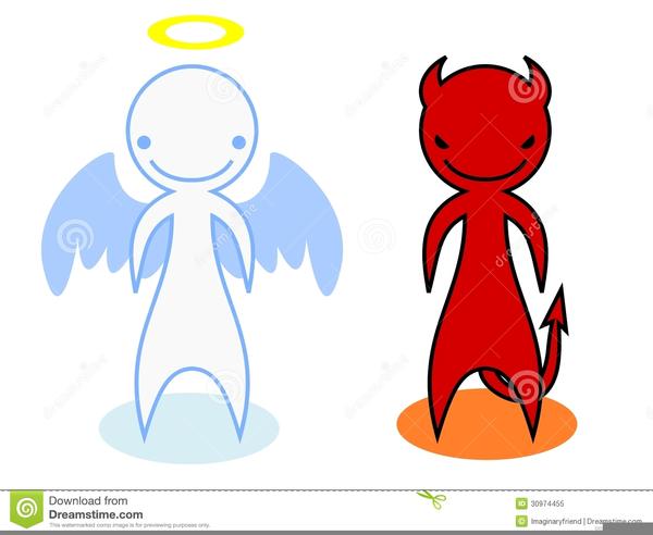 Angel Vs Devil Clipart.