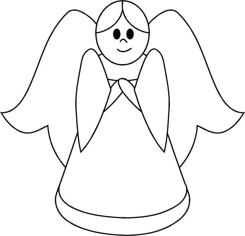 Free Angel Outline Drawing, Download Free Clip Art, Free.
