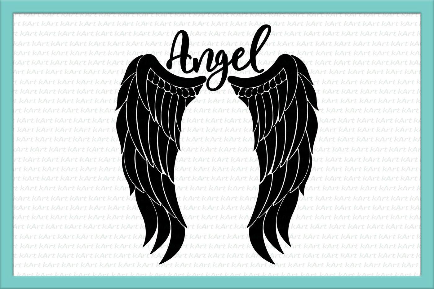 Angel wings svg, angel svg, feather wings svg, angel jpg.