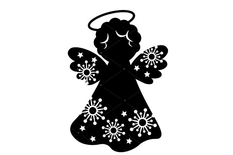 Christmas Angel svg vector print Snowflakes Cricut.