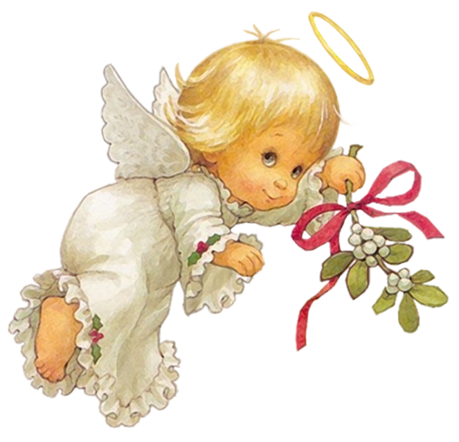 Cute Angel Free Clipart.