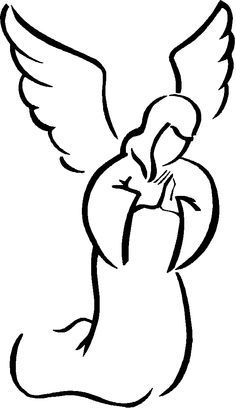 Angel Wings Clip Art Black And.