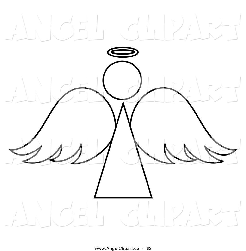 black and white singing angel clipart. angel head clipart.