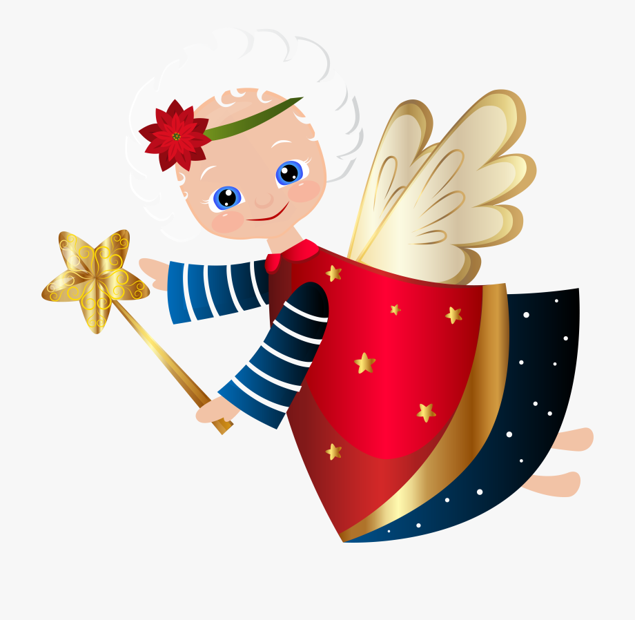 Cute Christmas Angel Transparent Png Clip Art Image.