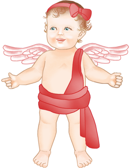 Red Baby Angel Clipart.