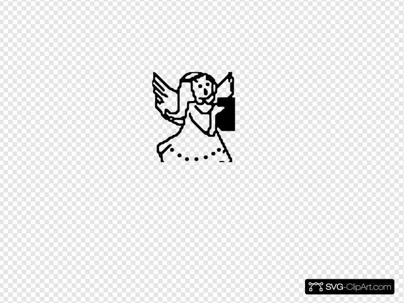 Small Angel Clip art, Icon and SVG.