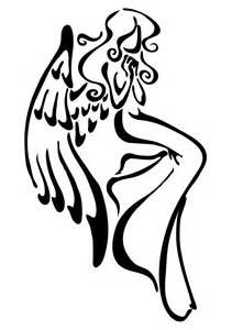 Simple Angel Tattoo.