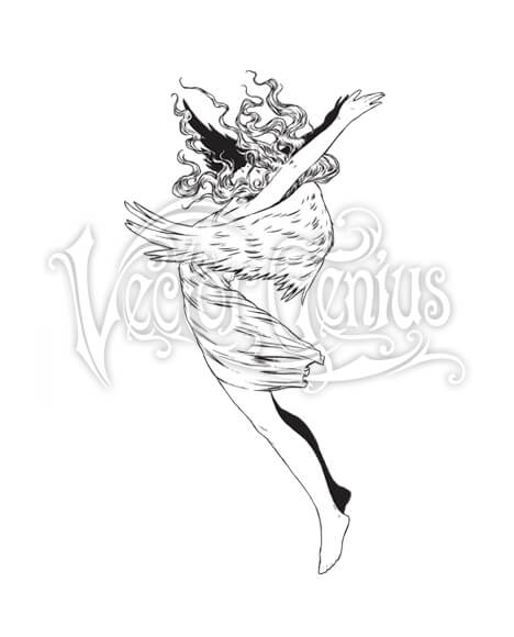 Dancing Angel Clip Art.
