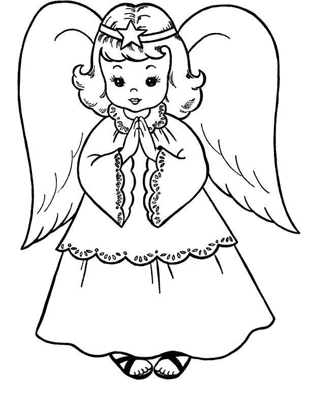 Clipart angel coloring page, Clipart angel coloring page.
