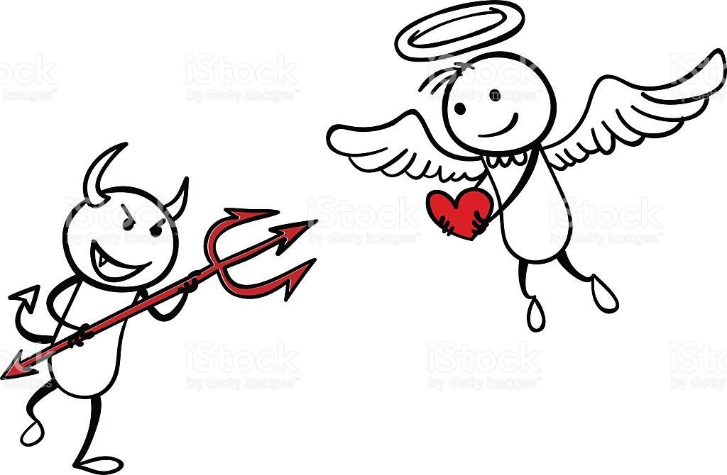 Devil Vs Angel Clipart.