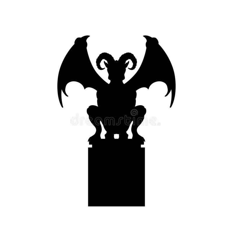 Gothic Gargoyle Stock Illustrations.