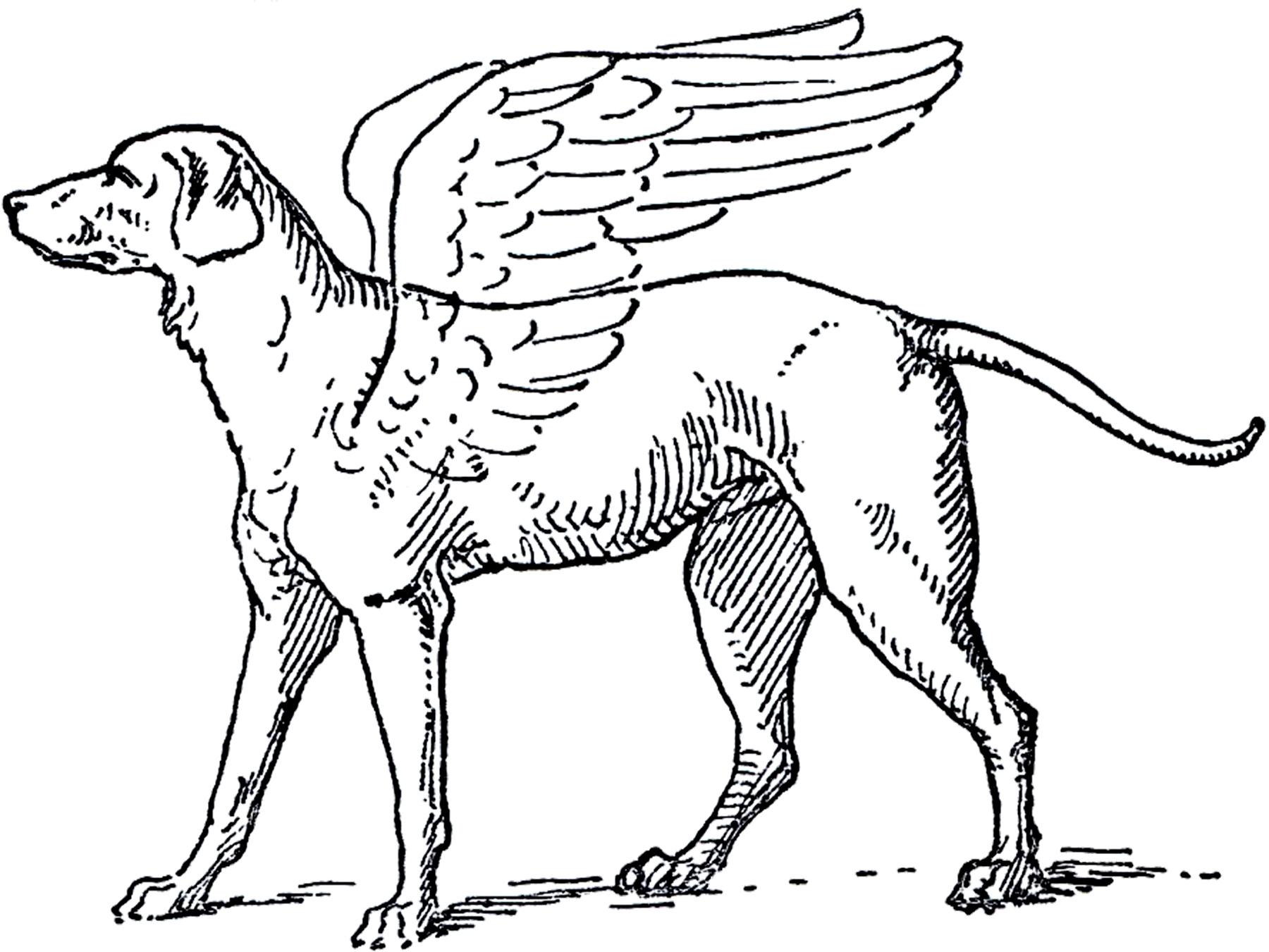 Free Angel Dog Clip Art Image.