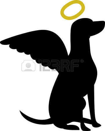 Dog With Halo Clipart.