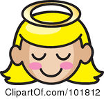Angel Face Clipart.
