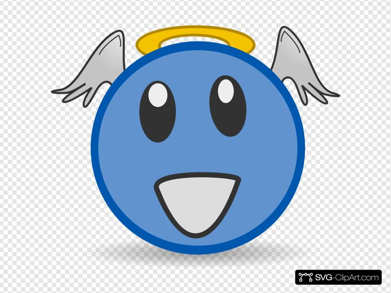 Angel Face Clip art, Icon and SVG.